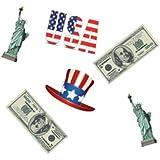 Chaks 83002, Sachet de 16 Confettis USA