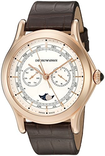 Emporio-Armani-Swiss-Made-Mens-ARS4202-Analog-Display-Swiss-Quartz-Brown-Watch