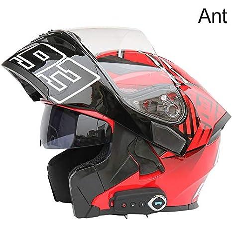 Amazon.com: Casco de motocicleta con Bluetooth integrado ...