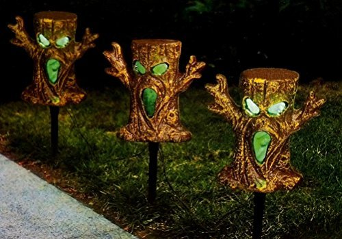 Halloween Spooky Trees Light Up Lawn Stakes Pathway