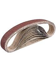 Fabric schuurbanden │ 12 stuks │ 40 x 760 mm │ 2 x korrel 40/60/80/120/180/240 │ compatibel met buisbandschuurmachine │ buisbandschuurpapier │ schuurband │ gemengde korrel