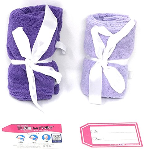 Turbie Twist 6 Pack Light and Dark Pink,Purple, Aqua Microfiber Hair towels by Turbie Twist (Image #6)