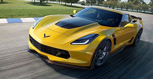 C7 Corvette Z06 Stinger Style Stripe Carbon Flash Metallic Solid GM Replia Stripe ()