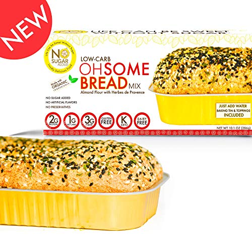 - No Sugar Aloud, Low Carb OhSome Bread Mix (No sugar added, gluten free, Vegan, Keto and Diabetic friendly)