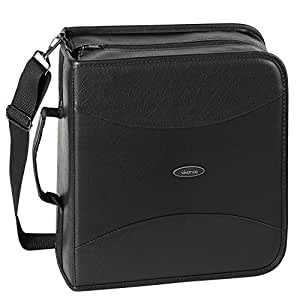 Vivanco PRO CDK 320 - Funda de piel sintética para CD (hasta 320 CD), color negro