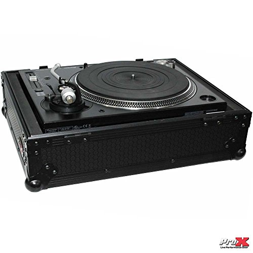 Prox Black Universal Dj Turntable Flight Gig Road Ready Case