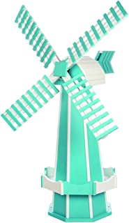 product image for DutchCrafters Decorative Poly Two-Tone Windmill (Large, Aruba Blue/White)