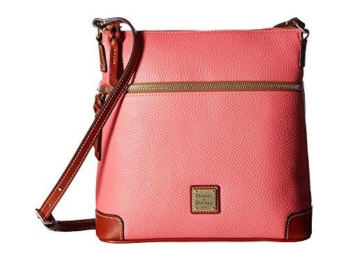 Dooney & Bourke Pebble Grain Leather Women's Crossbody Shoulder Bag Purse Handbag (Bubble Gum)