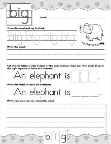 Counting Number worksheets kindergarten cut and paste worksheets free : Amazon.com: 100 Write-and-Learn Sight Word Practice Pages ...