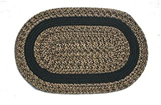 product image for Oval Braided Rug (3'x5'): Charles Blend- Black Band