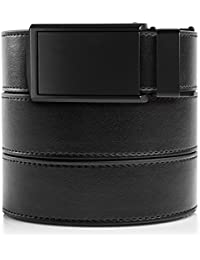 SlideBelts Men's Vegan Leather Belt without Holes - Matte...