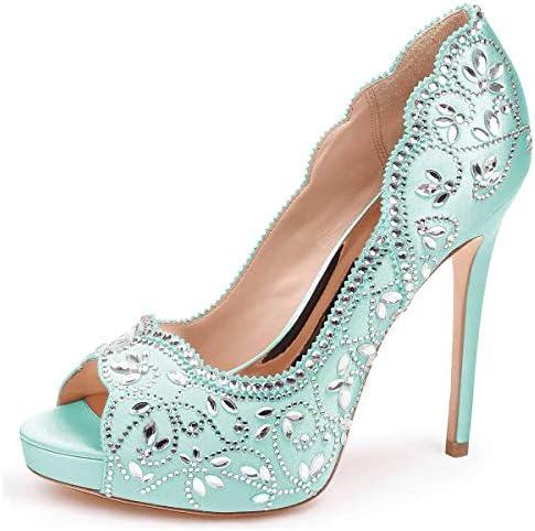 Chic Womens Sweet Peep Toe Bowknot Wedding Shoes Pumps High Heels Plus Size #498
