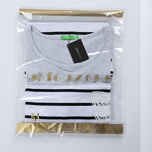 uideazone - Camiseta - Manga corta - para mujer gris