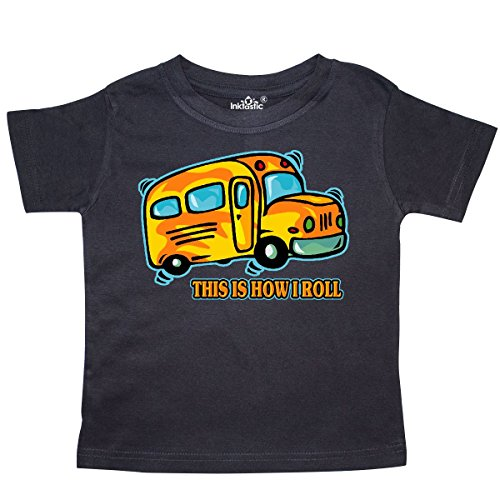 inktastic - How I Roll School Bus Toddler T-Shirt 3T Black 27d30 (Tee School Toddler)