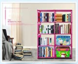 kisshes Cube Storage 8-Cube Closet Organizer Storage Shelves Cubes Organizer DIY Plastic Closet Cabinet Modular Book Shelf Organizing Storage Shelving for Bedroom Living Room Office