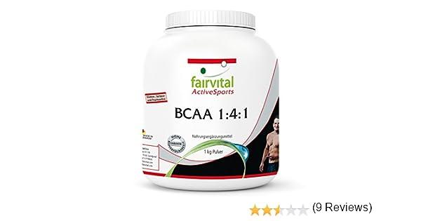 BCAA en Polvo 1:4:1 - Aminoácidos ramificados - Suplemento VEGANO ...
