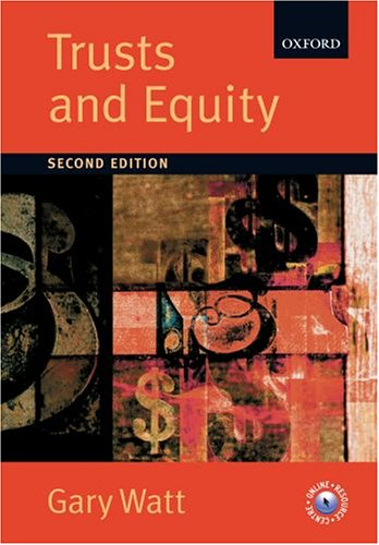 Trusts and Equity by Oxford University Press