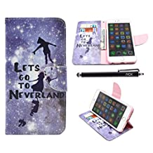 iPhone 6S Case, iPhone 6 Case Wallet, iYCK Premium PU Leather Flip Carrying Magnetic Closure Protective Shell Wallet Case Cover for iPhone 6 / 6S (4.7) with Kickstand Stand - Lets Go To Neverland