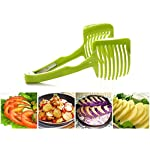 """Laytek Tomato Slicer, Multi-functional Handheld Tomato Round Slicer, Fruit Vegetable Cutter, Lemon Shredders Slicer, With the Special Hook 11 Material : ABS Mold Size :18.5 x 8 CM /7.3 """"X 3.1"""" Package Includes : 1 x HandHeld FruitS Round Slicer With this tomato slicer,you'll create perfect tomato slices everytime,This kind of fruit and vegetable slice assistant design novel, beautiful, bright color, easy to operate, safe and reliable. Add the tomato slicer along each gap from the top down the you could cut it into pieces"""