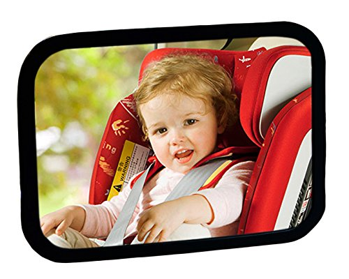 Baby Car Seat Mirror View Infant in Rear Facing Car Seat Shatterproof Acrylic Crystal Clear Reflection with ABS Frame ,Black