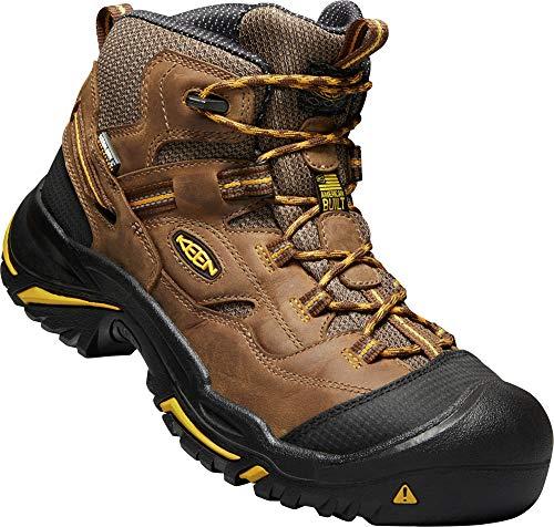 (KEEN Utility - Men's Braddock Mid (Soft Toe) Waterproof Work Boot, Cascade Brown/Tawny Olive, 8.5 D)