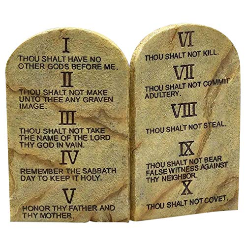 Ten Commandments Resin Stone 11 x 9 Wall or Tabletop ()