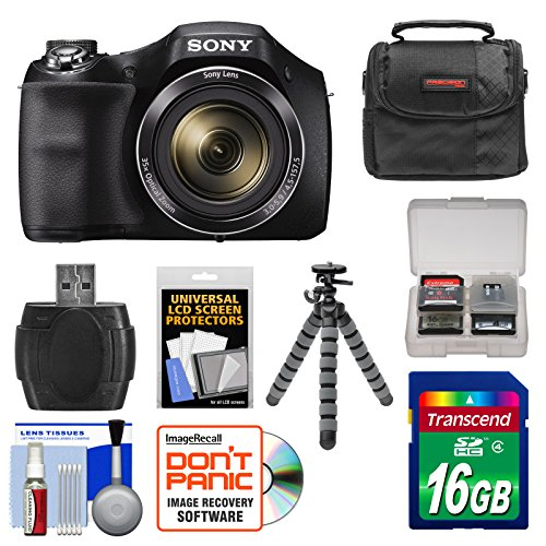 Price comparison product image Sony Cyber-Shot DSC-H300 Digital Camera with 16GB Card + Case + Flex Tripod + Kit