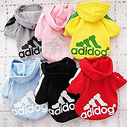 Pet Dog Clothes Coat Soft Cotton Adidog Clothing 7 Colors