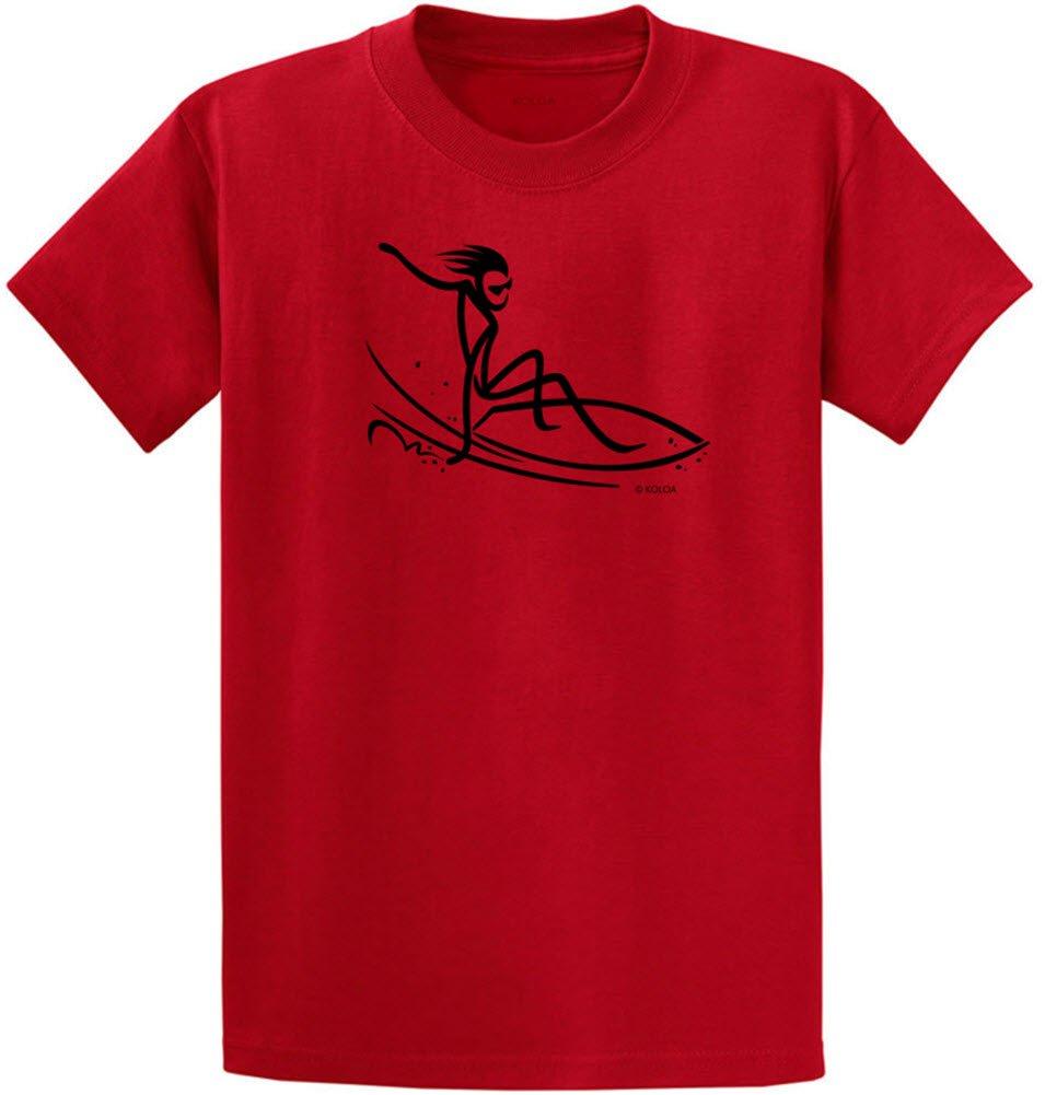 Joe's USA SHIRT メンズ B0793HXPJV Regular Medium (38-40) Red With Black Surfer Dude Design Red With Black Surfer Dude Design Regular Medium (38-40)