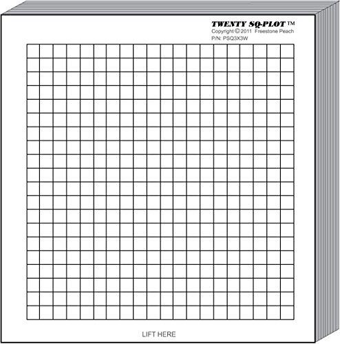 MiniPLOT Graph Paper Pads: 100 pads of 3x3 inch pre-printed Post-it Notes. 50 sheets per pad of coordinate grid design with NO axis. Grid = 20x20 squares.Use for homework, taking notes in class, tests by MiniPLOTs (Image #1)'