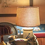 Double Medium Brwon Lamp Shades Set of 2, Alucset