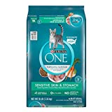 Purina ONE Sensitive Stomach, Sensitive Skin, Natural Dry Cat Food; Sensitive Skin & Stomach Formula - 16 lb. Bag