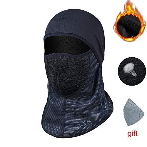 Arlumi Balaclava Face Mask, Windproof Ski Mask,Winter Motorcycle Neck Warmer or Tactical Balaclava Hood for Men and Women, Black