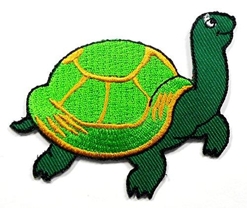 【ノーブランド品】アイロンワッペン ワッペン 動物・魚・生き物ワッペン 刺繍ワッペン カメ 亀 アイロンで貼れるワッペンの商品画像