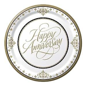 Creative Converting-Stafford Gold 50th Anniversary Plates (Dinner)