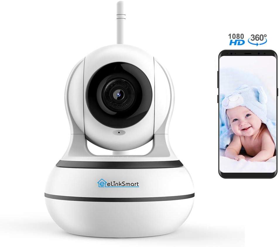 2020 Wifi Camera Elinksmart 1920X1080 Home Security Ptz Ip Camera Card Or Cloud Recording Night Vision 2-Way Audio Motion Detection, Alexa
