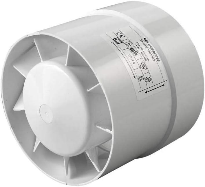 Extractor de aire en línea Helicoidal Vents VKO 185 m³/h (125mm)
