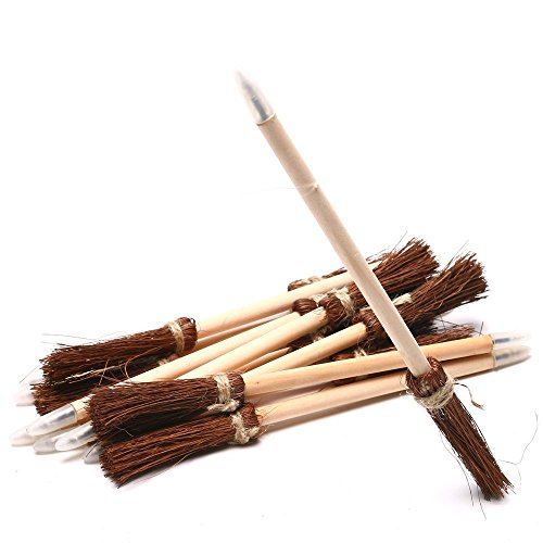 Fun Express Wood Witch's Broom Novelty Pens | 2-Pack (48 Count) | Great for Halloween-Themed Costumes, Parties, and Activities]()