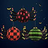 3 Pcs Folding Paper Lantern Halloween Funny Hanging Decoration Lanterns (Spider)