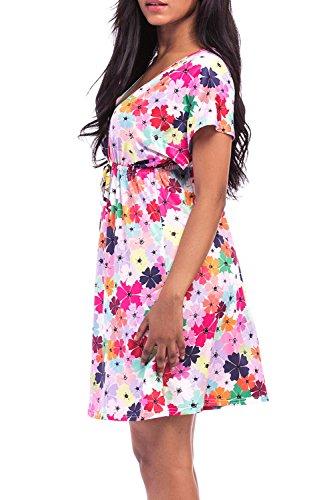 YACUN Damen Im Sommer Plus Size Kleid Nacht Rock Beach Hemd Colorful ...