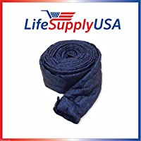 35 Ft Quilted Padded Central Vacuum Hose Cover with Zipper