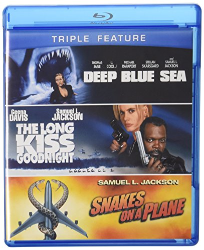 Samuel L. Jackson Triple Feature (The Long Kiss Goodnight / Deep Blue Sea / Snakes on a Plane) [Blu-ray]