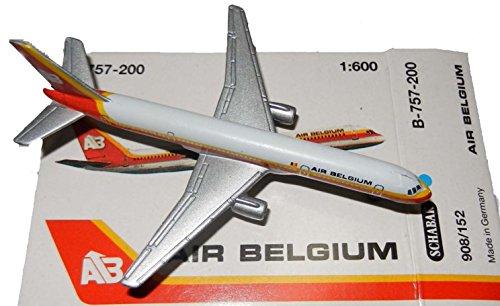 (Schabak 1:600 Scale Diecast 908-152 Air Belgium Boeing 757-200 Diecast)