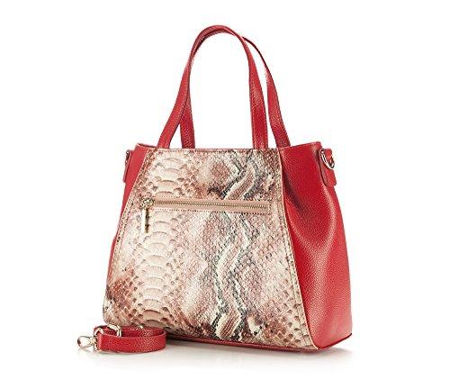 Wittchen Borsa elegante, Rosso - Dimensione: 24x30cm - Materiale: Pelle di grano -Accomoda A4: No - 85-4E-356-3