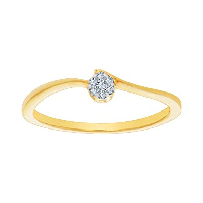 Buy Kalyan Jewellers 18KT Yellow Gold and Diamond Ring for Women