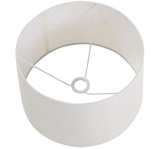 Amazon.com: Linen - Lámpara de tambor grande (7,87 pulgadas ...
