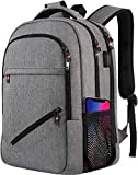 Laptop Backpack,Travel Laptop Backpack with USB Charging Port for Men Womens, Water Resistant College Bookbag Computer Rucksack Fits 15.6 Inch Laptop & Notebook