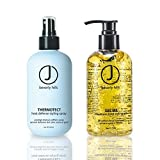 Oil Cleansing Gritty - J Beverly Hills Gel Me Maximum Hold Styling Gel 8oz + Thermotect Heat styling spray 8oz