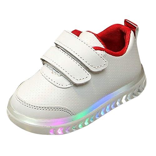 PAOLIAN Zapatillas con Luces Deporte de para Niños Niñas Verano 2019 Zapatos Deportivos Running Bebes Unisex Antideslizante Calzado Casual Exterior Velcro ...