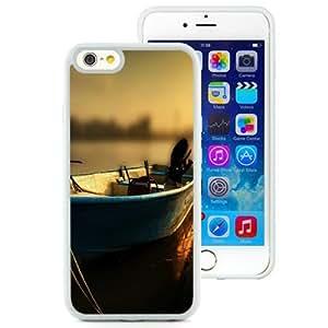 NEW Unique Custom Designed iPhone 6 4.7 Inch TPU Phone Case With Wood Boat Sunset Tilt Shift_White Phone Case wangjiang maoyi